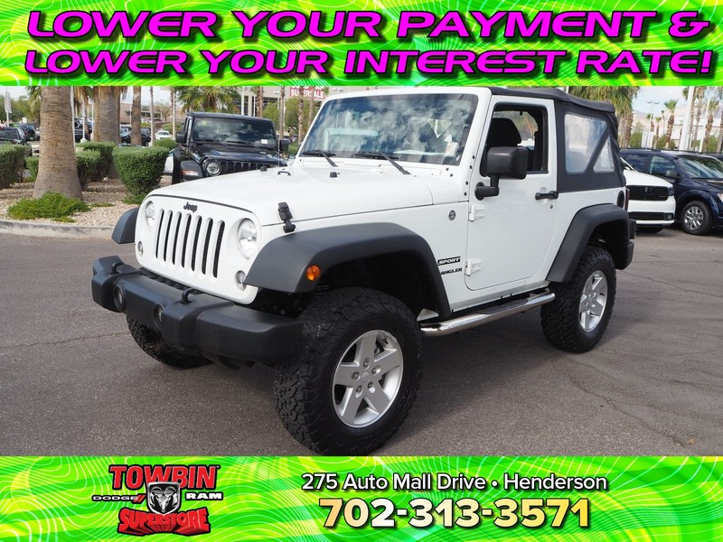 Pre-Owned 2014 JEEP WRANGLER 4WD 2DR SPORT