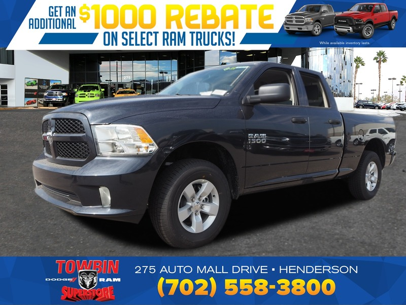 New 2018 RAM 1500 EXPRESS Quad Cab in Henderson #R27072 | Towbin Dodge